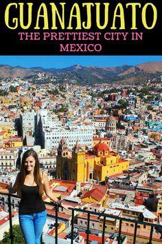 Guanajuato, Mexico. I love all the colourful buildings!