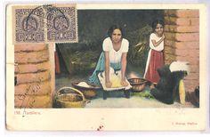 Mexico mexican tortillera type w olla 0LD 1900
