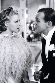 Fred Astaire and Ginger Rogers in Top Hat, (Mark Sandrich, 1935) viameinthefifties