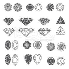 Set of diamonds royalty-free stock vector art