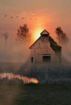 Old Barn: Surreal Sky