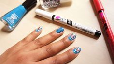 Independence Day nail art!