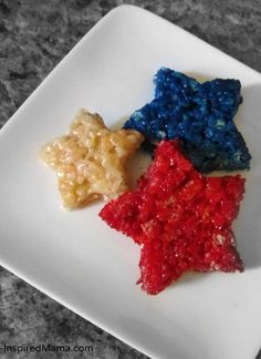Patriotic Rice Krispie Treat Stars