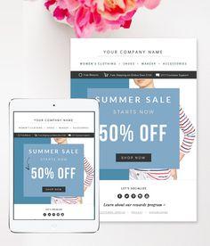 Fashion E-mail Newsletter Template PSD - Sale E-commerce Newsletter Blast Template - E-mail Blast Template