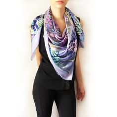 Gorgeous Sky Blue 3D silk scarf Scarves, Sky, Blue, Fashion, Headscarves, Scarfs, Heaven, Moda, Tie Head Scarves