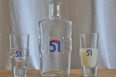 French 51 Pastis Glass Water Carafe Pitcher & by frenchvintagechic, $48.50
