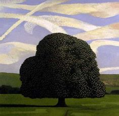 Chestnut Tree, 1994 by David Inshaw on Curiator, the world's biggest collaborative art collection. Contemporary Landscape, Landscape Art, Landscape Paintings, Klimt, Scenary Paintings, Tate Gallery, Digital Museum, Tree Illustration, Collaborative Art