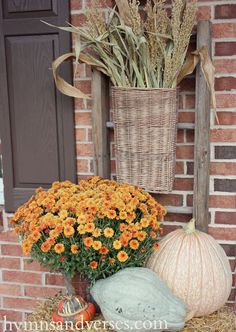 Hymns and Verses: Fall Outdoor Decor