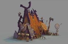 3D Viking House , Denis Rogic on ArtStation at https://www.artstation.com/artwork/K2LbW