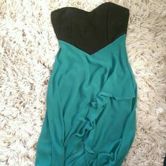 Foreign Exchange short Long dress Blue and black, short and long dress. Like new worn twice. Foreign Exchange Dresses Strapless