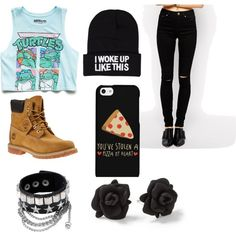A fashion look from January 2015 featuring Forever 21 t-shirts, ASOS jeans and Timberland boots. Browse and shop related looks.