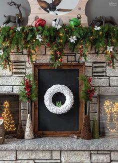 Christmas Mesh Wreaths, Diy Christmas Ornaments, Deco Mesh Wreaths, Christmas Projects, Holiday Crafts, Christmas Decorations, Yarn Wreaths, Winter Wreaths, Floral Wreaths