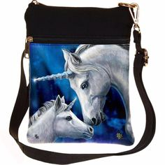 Sacred Love Unicorn Shoulder Bag by Lisa Parker Lisa Parker, World Famous Artists, White Unicorn, Swing Tags, Magical Forest, Unicorn Gifts, New Years Sales, Poly Bags, Gothic Accessories