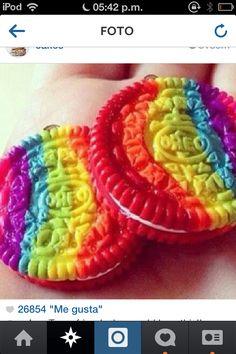 Rainbow oreos!!!