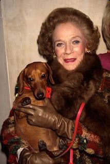 The Late Brooke Astor, American Philanthropist and Socialite, and Her Dachshund, Girlsie.