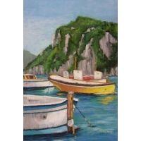 Boats of Capri - European Artwork