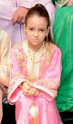 Moroccan Caftan Royal My Little Girl, Little Girl Dresses, Girls Dresses, Lalla Salma, Satin Duchesse, Moroccan Caftan, Embroidery Fashion, Lovely Dresses, Modest Outfits