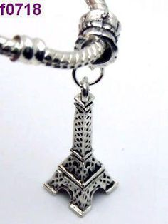 Awesome Eiffel Tower Charm Or Pendant With Bail #0718 $4.95