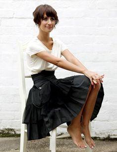 Loose t-shirt + fancy skirt with high waist?