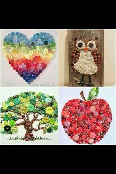 Owl Button Art Is A Super Cute DIY You'll Love