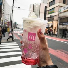 McDonald's Japan is rolling out a sakura-inspired drink!