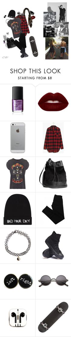 """""""day with johnson"""" by crazybyvans ❤ liked on Polyvore featuring NARS Cosmetics, Lime Crime, Luvvitt, Madewell, And Finally, H&M, Local Heroes, J Brand, Accessorize and Converse"""