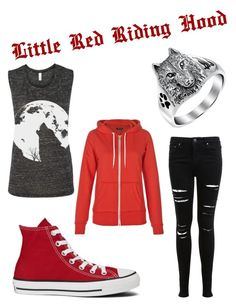 """Little Red Riding Hood"" by annikadavila on Polyvore featuring Miss Selfridge, Converse, Bling Jewelry and modern"