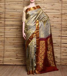 Gajara Pure Silk #Kanjivaram #Saree #Indianroots Indian Attire, Indian Wear, Indian Dresses, Indian Outfits, Katan Saree, Wedding Saree Collection, Indian Sarees, Pakistani, Kanjivaram Sarees