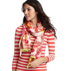Breezy Floral Lurex Scarf from Picsity.com