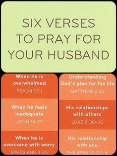 6 verses to #pray for your husband. #christianliving #prayer