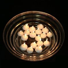 Dashington 2' White Floating Candles Set of 50 Wedding Party Favor Unscented Floater Disc * Click on the image for additional details.