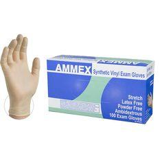 MEDICAL EXAM HIGHEST GRADE VINYL 1000 Count 1 Case, 10 Boxes Latex and Powder FREE HYPOALLERGENIC MEDIUM. VINYL DISPOSABLE GLOVES