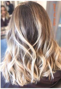 Perfect Blonde Balayage and wavy Lob Gleam Hair Studio http://gleamhairstudio.com/