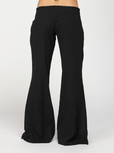 We love these new black gauze pants from Roxy. They are comfy and super cute with those crochet insets on the side.