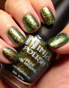 Ninja Polish Basilisk Ninja Nail Polish Lacquer Floam Holographic metallic effect nail polish @opulentnails #ninjanails #floam