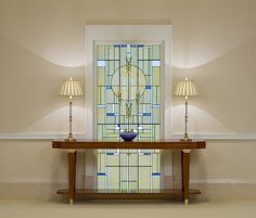 Tom Holdman - Love with the simple wheat neutral tones with small pops of blue on the white wall. Leaded Glass, Stained Glass Windows, Mosaic Glass, Glass Art, Stained Glass Designs, Stained Glass Patterns, Rexburg Temple, Rexburg Idaho, Picasa Web Albums