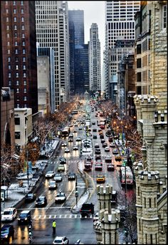 """The Magnificent Mile"" - Michigan Avenue, Chicago, Illinois"