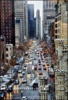 """""""The Magnificent Mile"""" - Michigan Avenue, Chicago, Illinois"""