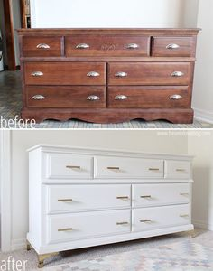 Updating an Old Dresser | A Makeover - Bean In Love Cheap Furniture Makeover, Diy Furniture Renovation, Diy Dresser Makeover, Bedroom Furniture Makeover, Refurbished Furniture, Repurposed Furniture, Furniture Decor, Furniture Design, Furniture Refinishing
