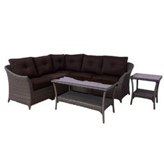 Shop for Somette Tortuga 7 piece Modular Wicker Sectional Set. Get free delivery at Overstock.com - Your Online Garden