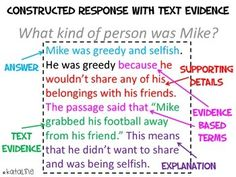 Constructed Response with Text Evidence by kataline | Teachers Pay Teachers