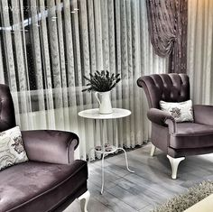 Bergere, Purple, Curtain, Coffee Table What's Decoration? Decoration may be the art of decorating the interior and exterior of the … Good Living Room Colors, Fancy Living Rooms, Living Room Decor, Home Decor Near Me, Home Decor Wall Art, Cheap Home Decor, Room Partition Designs, Room Color Schemes, Purple Accents