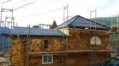rehabilitación de cubierta de pizarra iglesia Galicia