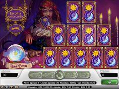 O Fortune Teller é uma máquina de moedas múltiplas com 5 colunas e 30 linhas, que possui prêmios Scatter, Free Spins, substituições Wild e um Bonus Game com cartas de tarô.