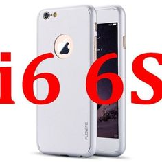 FLOVEME i6 6S/plus Full Body Cases Luxury Clear Glass Screen Protector + Hard PC Back Case Cover For iPhone 6 6S Plus 360 Degree