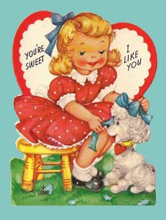 valentine cards retro