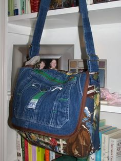 Upcycle jeans into messenger bag