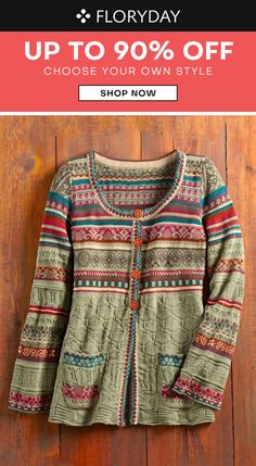 Sweater Coats, Wool Cardigan, Sweaters, Fair Isle Knitting Patterns, High Fashion Outfits, Bohemian Clothing, Scorpion, Crochet Clothes, Aesthetic Clothes