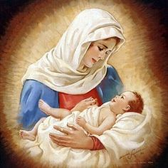 While at the convent, Catherine began to experience visions of Jesus and Satan. One vision happened on Christmas day, when Catherine saw Mary holding the baby Jesus. This image is now portrayed in many paintings. Blessed Mother Mary, Blessed Virgin Mary, Religious Pictures, Religious Art, Jesus E Maria, Mama Mary, Sainte Marie, Mary And Jesus, Holy Mary
