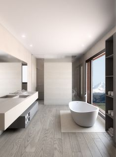 Are you searching for a new bathroom decoration? See our inspirations at maisonv. Contemporary Bathrooms, Modern Bathroom, Home Room Design, House Design, Bathroom Design Inspiration, Bathroom Design Luxury, Dream Bathrooms, Bathroom Styling, Bathroom Renovations